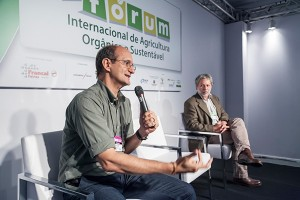 Rogério Dias, do Mapa, e Cássio Trovatto, do MDA, durante a BioBrazil Fair
